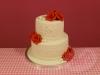 Bruidstaart-rode-rozen