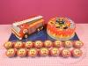 Brandweerman-Sam-taart-3D-en-cupcakes